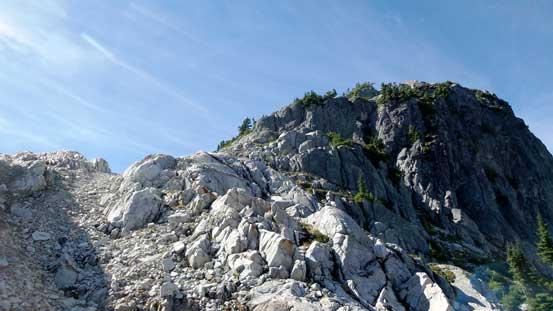 Almost onto the summit ridge now.