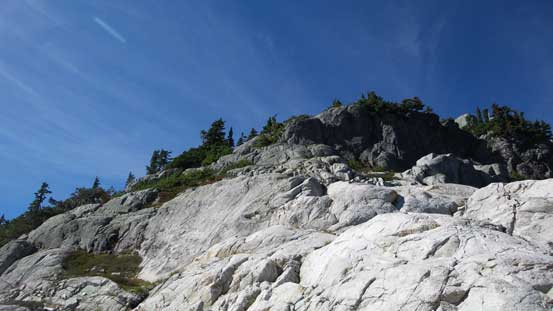 The start of the summit ridge