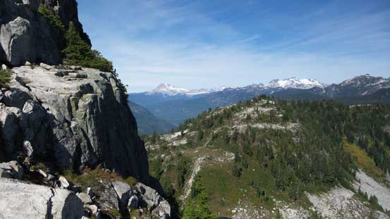 Looking across the steep N. Face