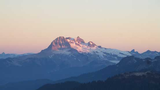 Alpenglow on Mt. Garibaldi massif