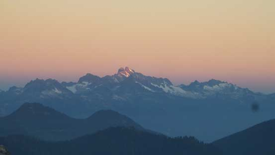 Alpenglow on Mt. Tantalus