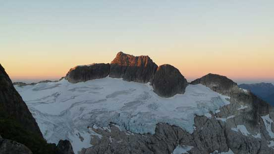 And, alpenglow on my objective - Meslilloet Mountain