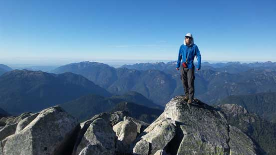 Me on the summit of Meslilloet Mountain