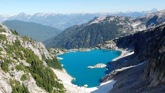 This is that lake on the east side of the ridge/divide