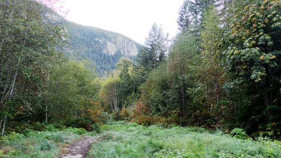 This is the main trail near the start.