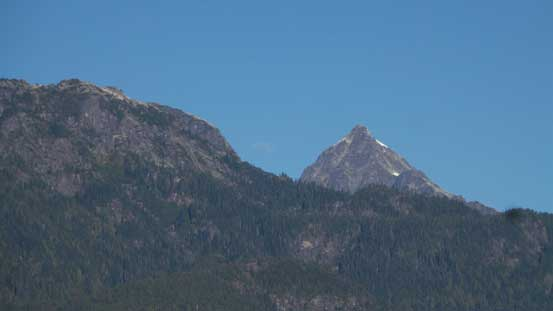 That pointy peak is Alpha Mountain on the Tantalus Range