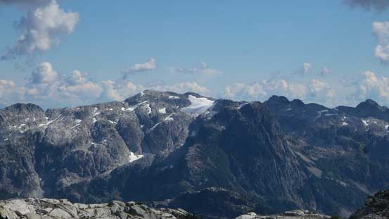 Peaks south of the Fingers - Consolation Dome and Obelisk Peak with Mt. Lou in front