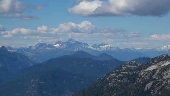 The Tantalus Range looms behind