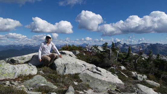 Another picture of me on the summit of Mt. Bonnycastle