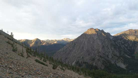 The peak right of center is Esmeralds Peak