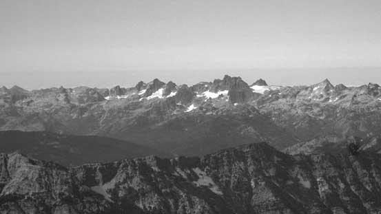 Peaks in the core area of Alpine Lakes - Summit Chief Mountain, Chimney Rock et al.
