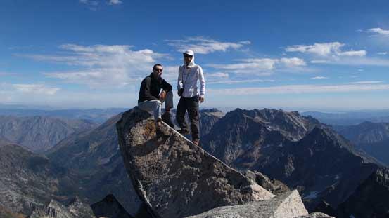 Vlad and myself on the summit of Mt. Stuart