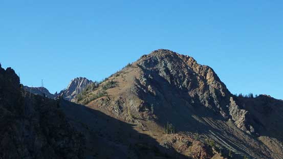 This is an unnamed peak looking north. Ingalls Peak pokes behind to the left