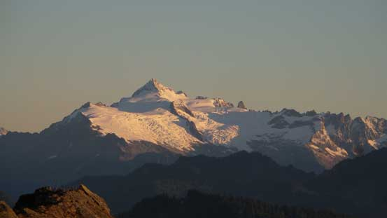 A closer look at Mt. Shuksan. It's south side is the least steep side but still, very impressive