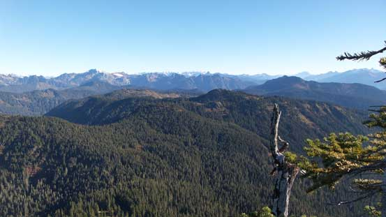 A view from the true summit. Other directions were mostly blocked by dense vegetation.