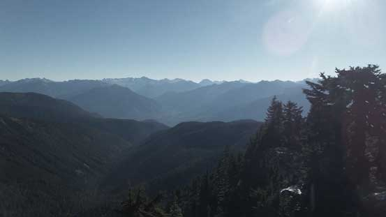 Looking deeply into the North Cascades. Eldorado Peak and others on the skyline.