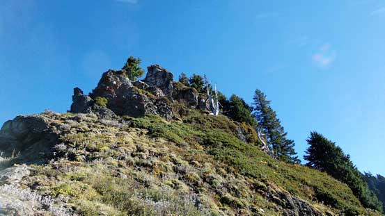 Descending the SW Ridge of Bald Mountain