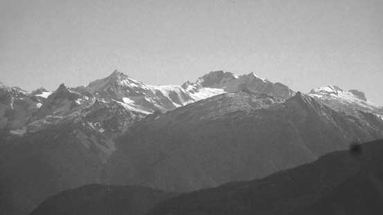 The classics by Cascade Pass - Forbidden Peak (L) and Boston/Sahale massif (R)