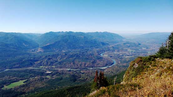 This is the Skagit River Valley and where the North Cascades Highway travels through