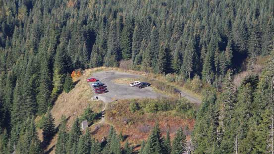 The parking lot... Very high in elevation..