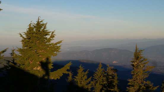 The morning view towards Fraser Valley was a bit hazy..