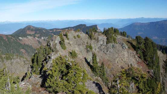 Looking over the lower north summit
