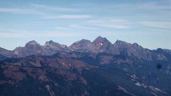 Peaks on Cheam Range - Knight, Stewart, The Still, Welch and Foley from L to R