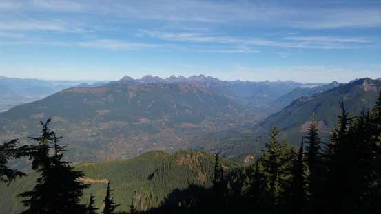 "Chilliwack Valley from the summit of ""Windy Knob"""