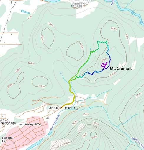 Mt. Crumpit hiking route