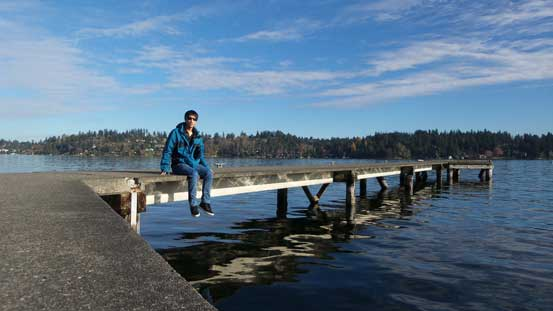 Me relaxing in Luther Burbank Park on Mercer Island