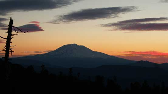 This is the mighty Mt. Adams before sunrise