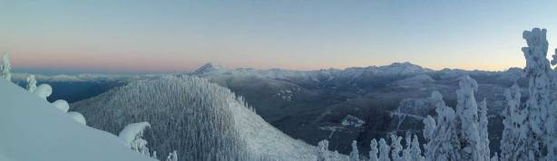 A panorama looking north just before the alpenglow time