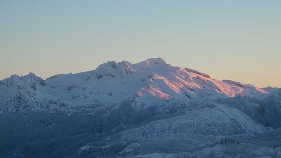 Mamquam Mountain was also on glow