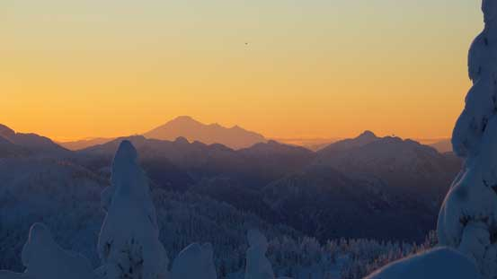 Mt. Baker on the southern horizon