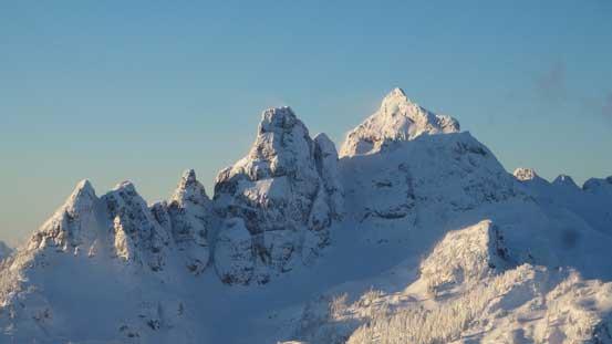 Ledge Mountain and Sky Pilot Mountain