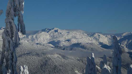 Isosceles Peak and Parapet Peak in McBride Range