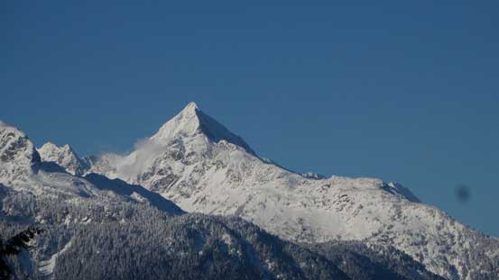 Mt. Alpha looks like a Himalayan giant