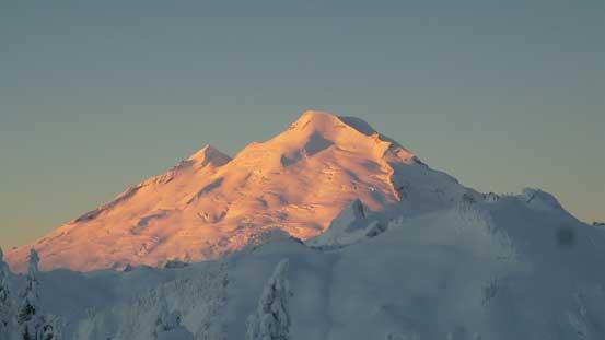 Alpenglow on Mt. Baker