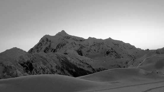 Mt. Shuksan in black-and-white
