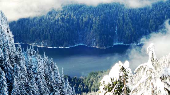 Could see Capilano Lake way down there