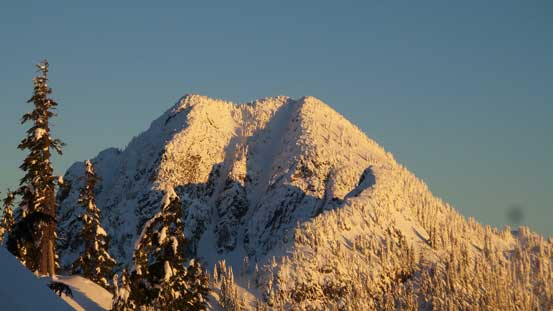 A zoomed-in view of Mt. Hanover - my objective