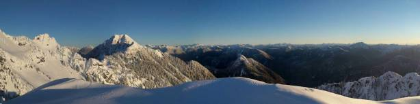 A partial panorama from Magnesia Peak. Click to view large size.