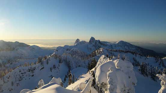 From the summit of Magnesia Peak, looking south