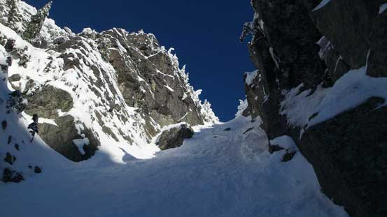 Grunting up the couloir