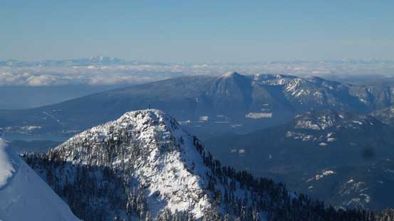 Hat Mountain in foreground; Mt. Elphinstone in the background