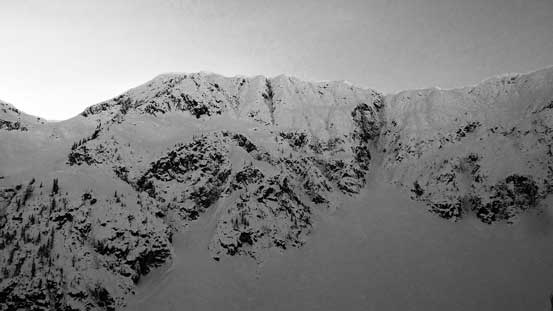 The impressive North Face of Steep Peak