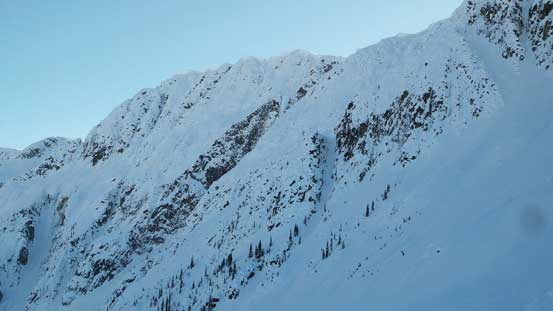 The N. Face of Steep Peak