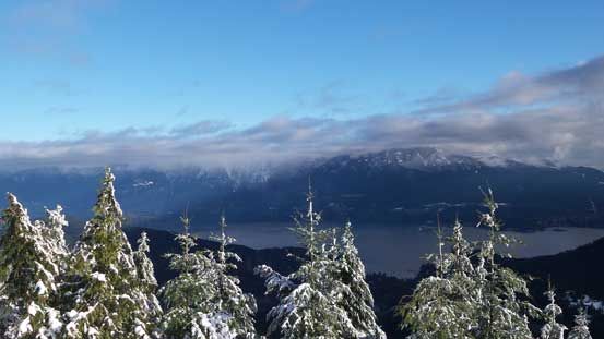 The peaks along Howe Sound Crest Trail were still engulfed in clouds though