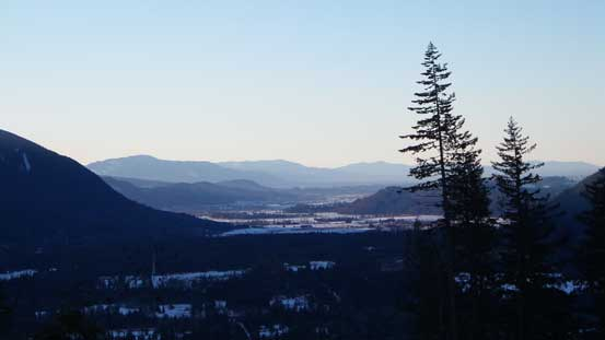 Morning view of the Fraser Valley from one of the viewpoints