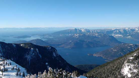 Looking down at Howe Sound